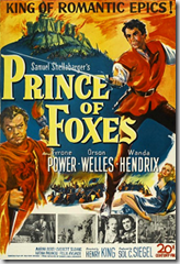 Film poster for Prince of Foxes - 1949