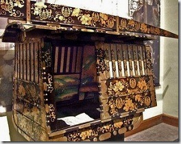 Japanese 19th century palanquin - image by Mary Harrsch via Flickr
