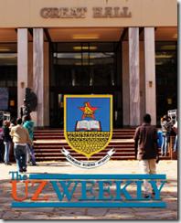 The Great Hall at the University of Zimbabwe - Harare - Zimbabwe - back cover of UZ Weekly 8 June 2012